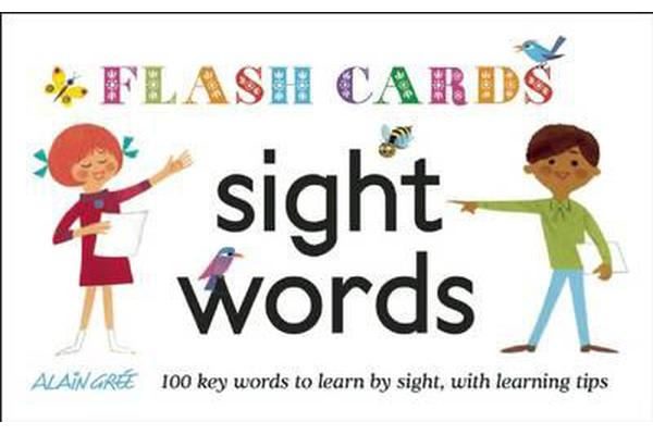 Image of Sight Words - Flash Cards - 100 Key Words to Learn by Sight, with Learning Tips