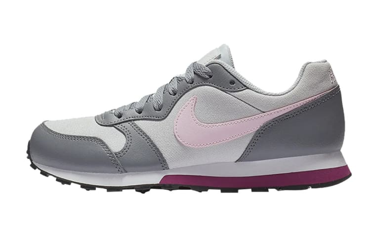 Nike MD Girls' Runner 2 (GS US) Shoe (Pure Platinum/Pink Foam, Size 4Y US)