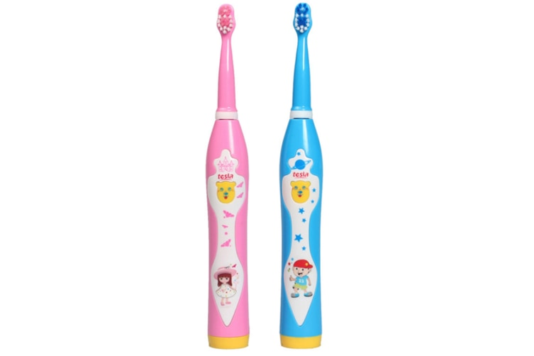 Children'S Music Electric Toothbrush Usb Charged Waterproof Soft Fur Toothbrush - Blue Blue