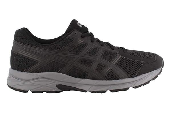 ASICS Men's Gel-Contend 4 Running Shoe (Black/Dark Grey, Size 11.5)