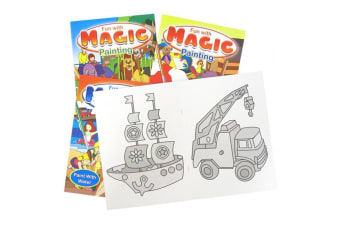 Set of 4 Magic Painting Book for Kids Fun with Magic Painting 64 pages Paint with Water No Paint Needed