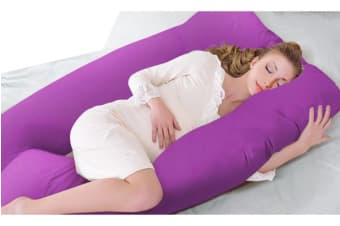 Maternity Pillow Pregncy Nursing Sleeping Body Support Plum Colour