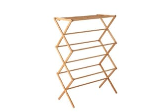 Artiss Folding Bamboo Clothes Dry Rack Towel Hanger Laundry Drying Wooden