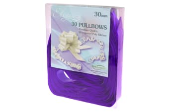 Eleganze Plain Pullbows (Pack Of 30) (Purple) (One Size)