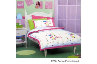 Barbie Embroidery Quilt Cover Set Single by Disney