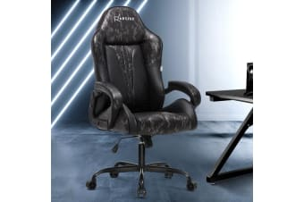 Artiss Gaming Office Chair Computer Chairs Leather Seat Racer Grey Camouflage