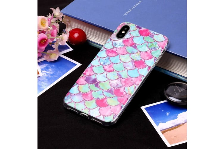 For iPhone XR Case Color Ripple Pattern TPU Protective Back Cover Grippy Texture