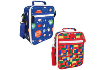 2PK Sachi Thermal Insulated Picnic Lunch Tote Cooler Carry Bag Box Space Bricks
