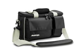Silstar Soft Fishing Tackle Bag with Dual Inner Compartments and 6 Tackle Boxes
