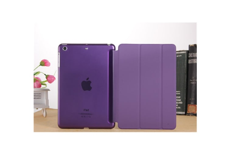 Premium Leather Business Slim Folding Stand Folio Cover For Ipad New Pro 11 Inch Purple