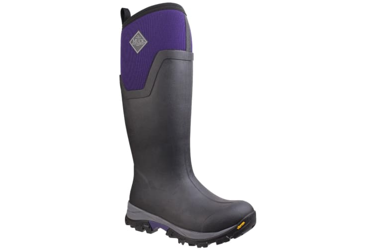 Muck Boots Womens/Ladies Arctic Ice Tall Extreme Condition Wellington Boots (Black/Parachute Purple) (9 UK)