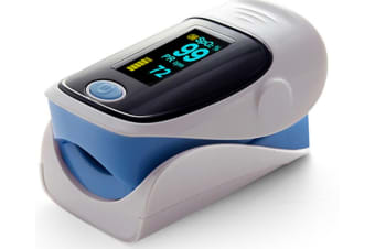 Select Mall Household Portable Finger Clip Type Pulse Oximeter LED Blood Oxygen Saturation Monitor-Blue
