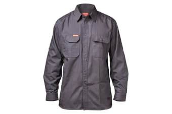 Hard Yakka Men's Legends Long Sleeve Shirt (Charcoal, Size 2XL)