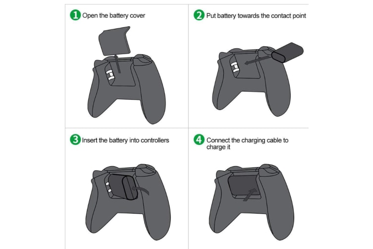 Xbox One Controller Battery Pack Play & Charge kit for Microsoft Xbox  One,Xbox One S/X Elite Wireless Controllers