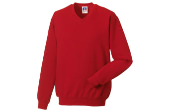 Russell Workwear V-Neck Sweatshirt Top (Classic Red) (S)