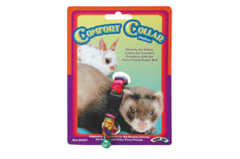 Superpet Cotton Comfort Pet Collar With Bell (Multicoloured)