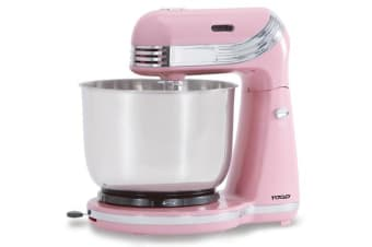 TODO 3L Retro Electric Stand Mixer - Pink