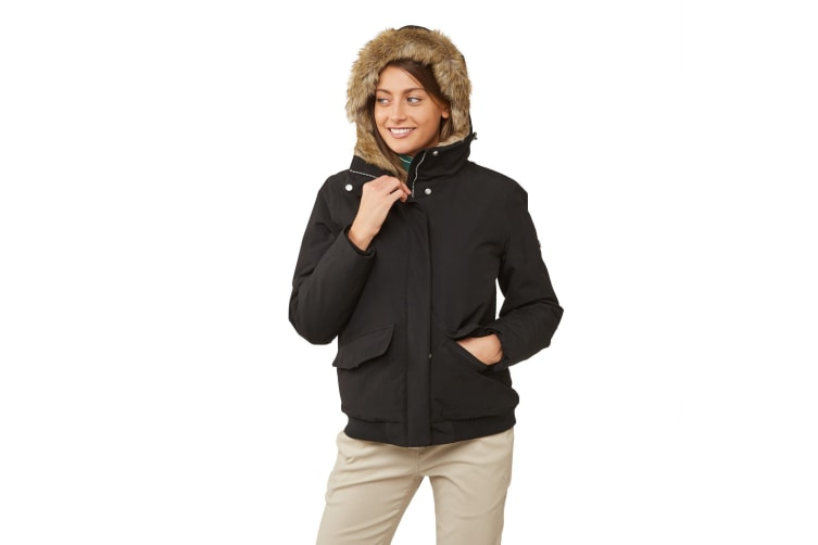 Craghoppers Womens/Ladies Lucerne Faux Fur Bomber Jacket (Black) (16 UK)