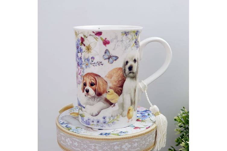 Grandma Mug with Personalised Gift Box Puppy Dog