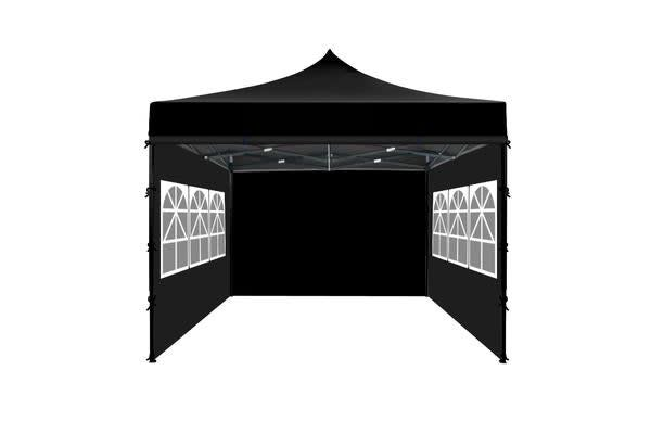 3x3m Party Pop Up Gazebo Marquee Canopy Folding Tent BLACK