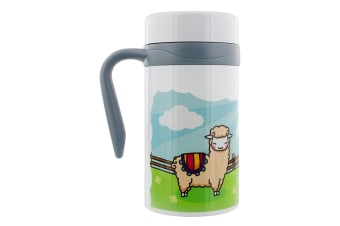 Grindstore Happy Llamas Thermal Travel Mug With Handle (White)
