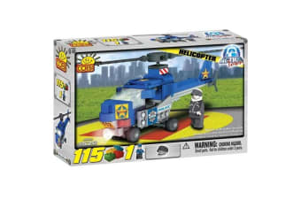 Action Town 115 Piece Police Helicopter Construction Set