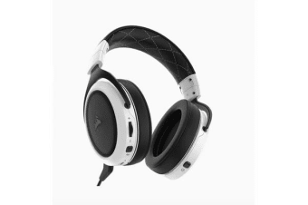 Corsair HS70 Wireless Gaming Headset White with Black. Up to 16hrs of Playback. PC and PS4 Compatible. 2 Years Warranty