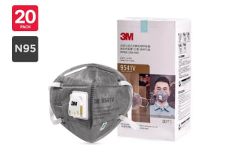 3M N95 9541V KN95 Particulate Respirator Mask (20 Pack)