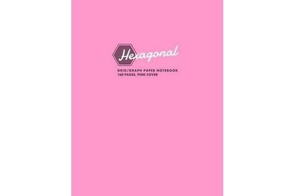 Hexagonal Grid/Graph Paper Notebook, 160 Pages, Pink Cover - Hexagonal Series, 8.5x11, for Graphs, Gaming, Notes, Sketching, Mapping and More