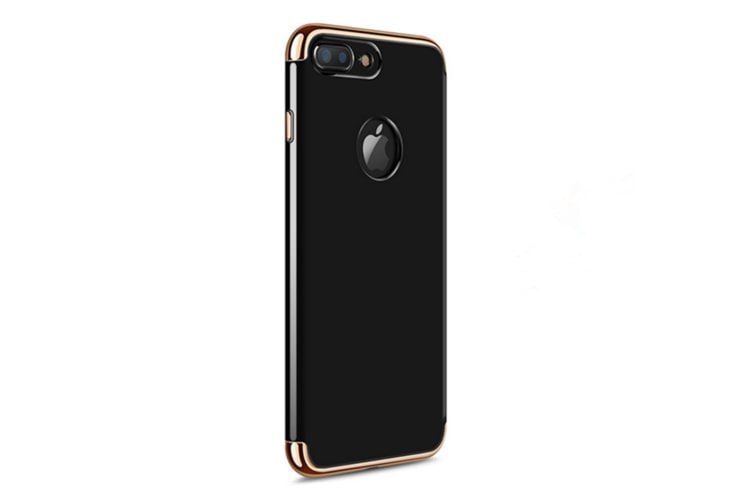 3 In One Splicing Plating Case For IphoneBlack Iphone 8/7
