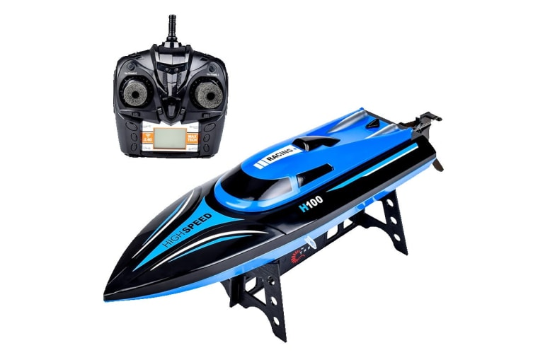 Remote Control 20kmh Toy Speedboat with LCD Screen Remote (H100)