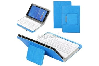For Samsung Galaxy Tab A 8.0 T350 SM T355Y Tablet Stand Case Bluetooth Keyboard Cover-Blue