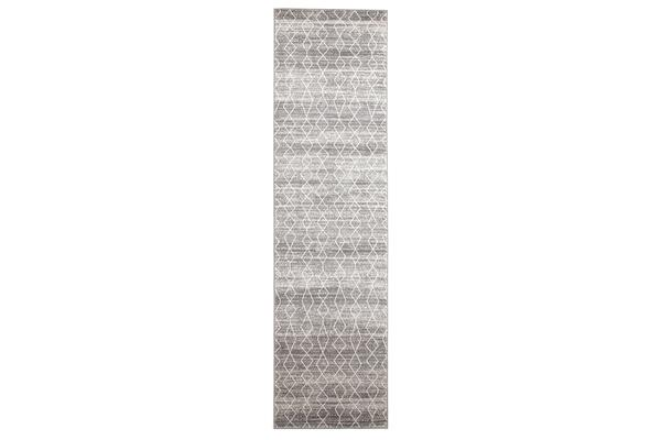 Remy Silver Transitional Rug 400x80cm