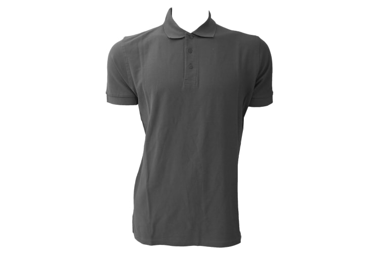 Jerzees Colours Mens Ultimate Cotton Short Sleeve Polo Shirt (Titanium) (S)