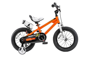 RoyalBaby Freestyle Kid's Bike for Boys and Girls, 12 14 16 inch with Training Wheels, 16 18 20 inch with Kickstand Orange Colour