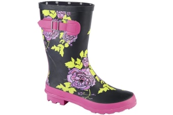 Woodland Womens/Ladies Mid Calf Wellington Boot (Black Multi)