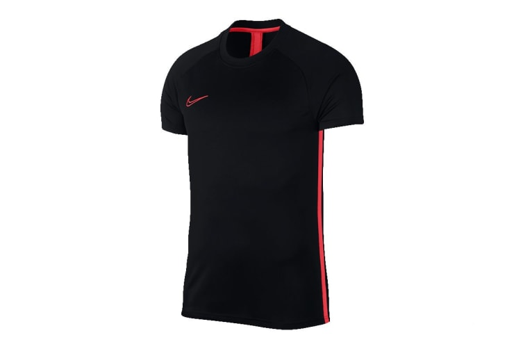 Nike Dri-FIT Academy Men's SS Top (Black/Ember Glow, Size L)
