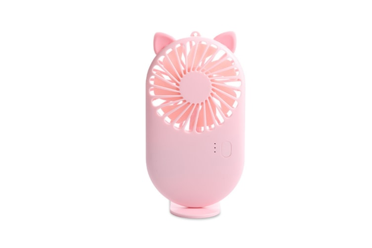 Select Mall Cartoon Mini USB Fan Pocket Handheld Silent Portable Ultra-thin Air Cooler Small Personal Portable Fan-Pink