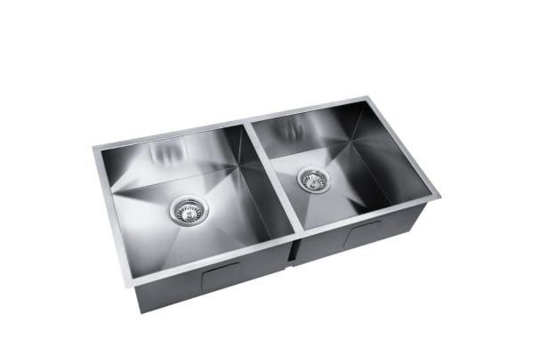 Stainless Steel Kitchen/Laundry Sink with Strainer Waste 865x440mm