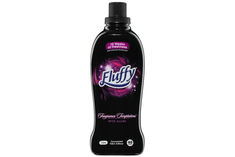 8PK Fluffy 1L Fabric Softener Concentrated Laundry/Clothes 40 Wash Spice Allure