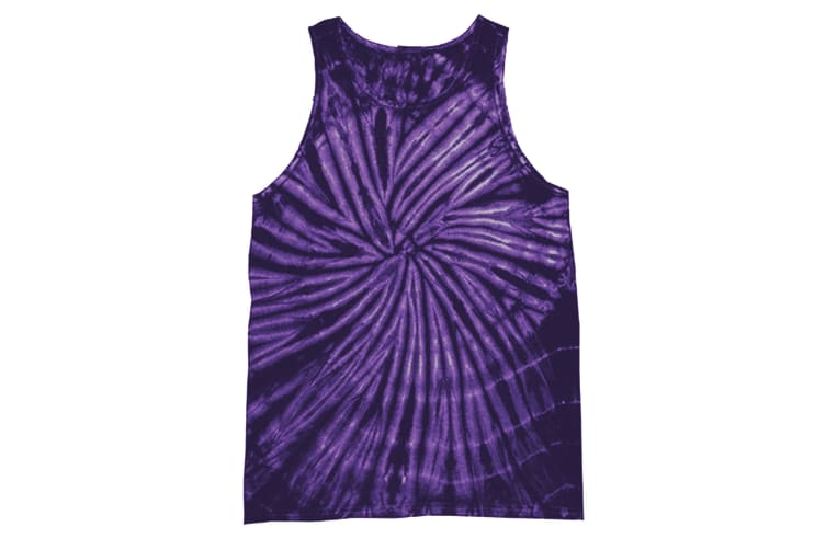Colortone Womens/Ladies Sleeveless Tie-Dye Tank Top (Spiral Purple) (M)