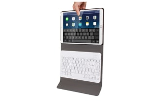Wireless Bluetooth Keyboard Leather Protective Cover For Apple Ipad Pro 10.5 Inch Navy Blue