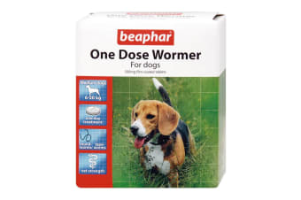 Beaphar Canac One Dose Dog Wormers (2 Packs Of 6) (May Vary)