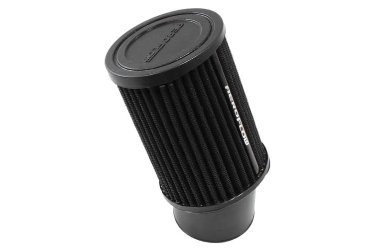 """Aeroflow 2-7/16 Clamp-On Tapered Filter3.75 O.D, 5"""" High Black Cott"""