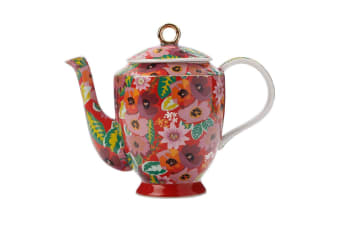 Maxwell & Williams Teas & C's Glastonbury Tea Pot Porcelain 1L Teapot Poppy Red