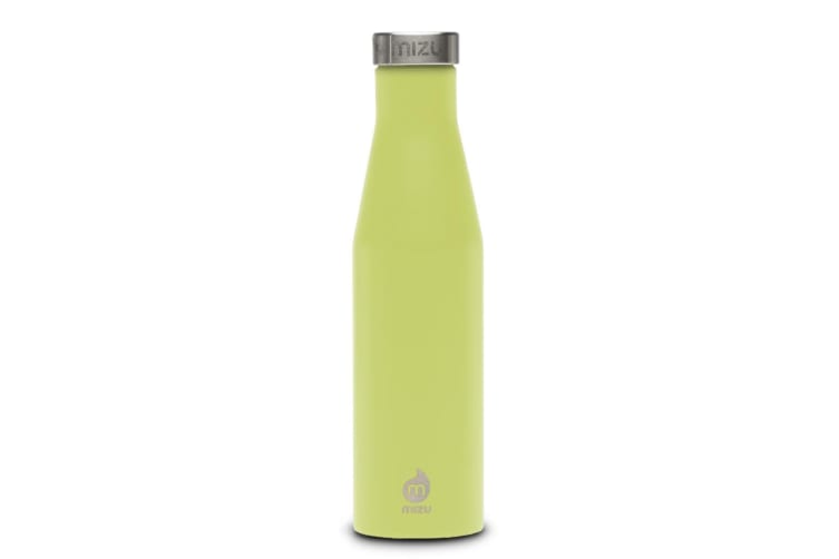 Mizu S6 Insulated Slim Series Bottle 19oz - Enduro Lime with Stainless Lid