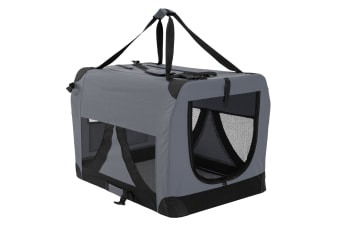XXXL Portable Soft Dog Crate - GREY