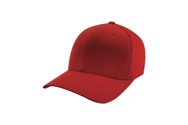 Yupoong Mens Flexfit Fitted Baseball Cap (Red) (LXL)