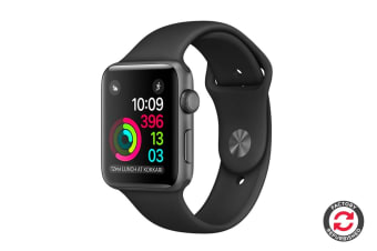 Apple Watch Series 2 Refurbished (Space Grey, Aluminium, 38mm, Sports Black) - A Grade