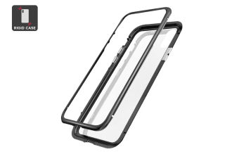 iPhone X/XS Aluminium Magnetic Phone Case - Clear